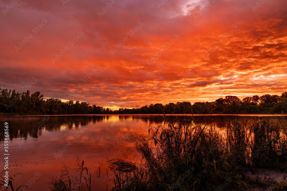 Fototapeta jezioro bajkał pod Wrocławiem wschód