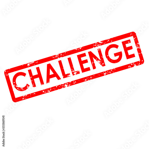 Canvas Print challenge stamp sign. challenge rubber stamp on white background.