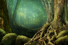 Landscape With Fantasy Forest,...