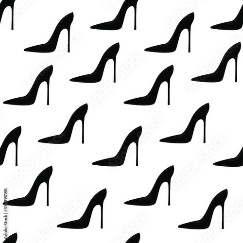 Black elegant fashilonable high heeled women shoes Tablou Canvas