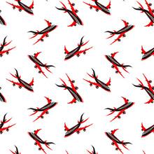 Airplane Seamless Pattern. Spo...