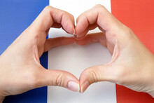 I Love France. Hands Make Hear...