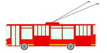 Trolleybus. Isolated Vector Im...