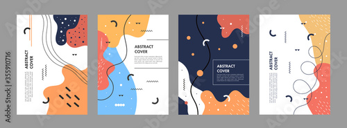 Fototapeta Set of abstract creative artistic templates. Universal cover Designs for Annual Report, Brochures, Flyers, Presentations, Leaflet, Magazine. obraz