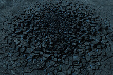 Crack Clay, Black Desert, 3d Rendering.