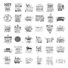 Set Of 49 Card Posters Typogra...