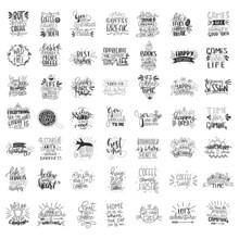 Set Of 49 Card Posters Typogra...
