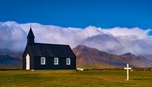 Black Church In Budir, Iceland