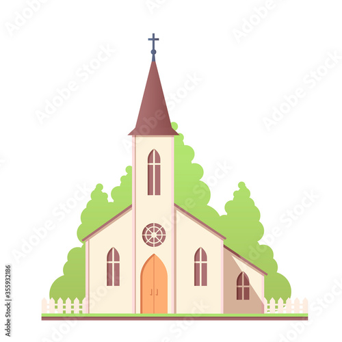 Fototapeta Church design icon. Catholic holy traditional symbol. Vector illustration.  obraz