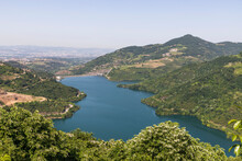View Of Yuvacik Dam Lake In Ko...