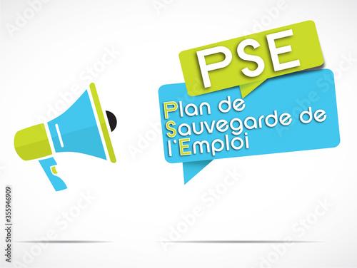 Fototapeta mégaphone : PSE (plan de sauvegarde de l'emploi)