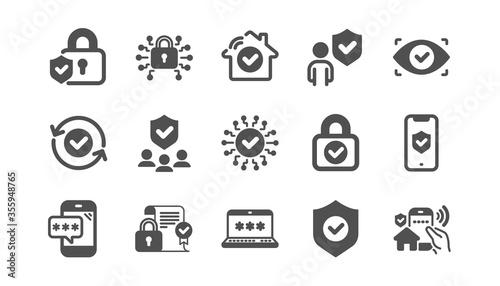 Security icons set Fototapete
