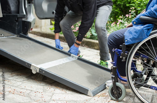 accompaniment service for siabled people Canvas Print
