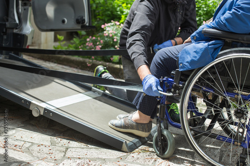 Canvas Print accompaniment service for siabled people
