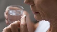 Close Up Of Mature Sick Woman ...