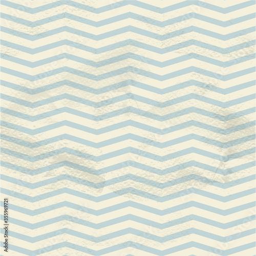 Obraz Blue seamless vintage pattern of thin zigzag (chevron) on grange paper - fototapety do salonu