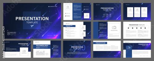 Fotografia, Obraz Business presentation templates set
