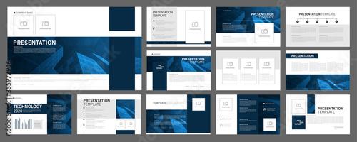 Business presentation templates set Canvas Print