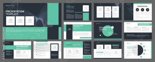 Obraz na plátne Business presentation templates set