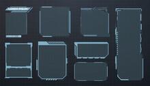 HUD Set Frames. Futuristic Mod...