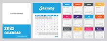 2021 Modern Calendar. Template...