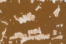 Old House Wall Falling Apart Texture Background Orange Brown Yellow White Grunge Space For Text