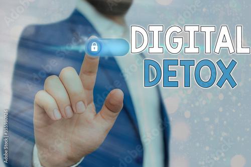 Handwriting text Digital Detox Wallpaper Mural