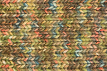 Green Beige Blue Pink Knitted Wool Melange Blend Handmade Garment Background, Large Horizontal Textured Woolen Knitwear Pattern Textile Texture Macro Closeup Grey Moss Tan Taupe Violet Knit Mélange