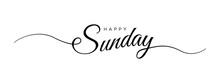 Happy Sunday Letter Calligraphy Banner