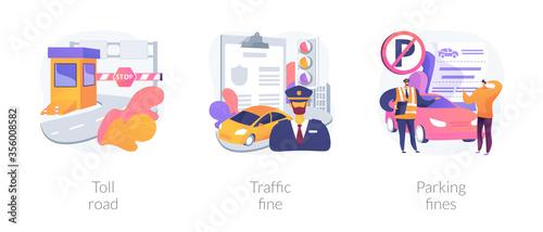 Fotografía Driving rules violation abstract concept vector illustration set