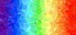 Rainbow Stripes Low Poly Vector Background. Pride Flag. Peace, Love & Support Symbol. Backdrop for Message of Hope During Pandemic.
