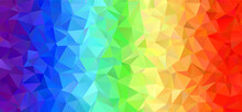Rainbow Stripes Low Poly Vecto...
