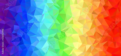 Cuadros en Lienzo Rainbow Stripes Low Poly Vector Background