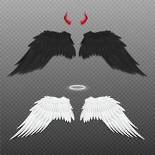 Angel And Devil Wings, Nimbus ...