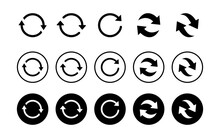 Refresh Icon Set Isolated On W...