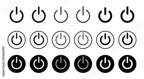 Cuadros en Lienzo Power icon set isolated on white background