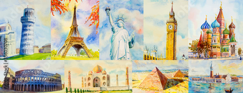 Tela Travel around the world and sights. Famous landmarks