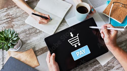 Papel de parede Online payment an e-commerce concept