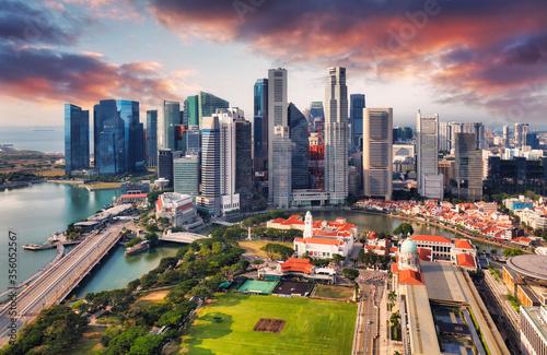 Obraz Singapore skyline - downtown city - fototapety do salonu