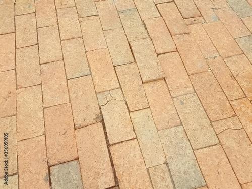 red bricks on the sidewalk
