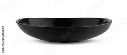 Fotografía black bowl on white background