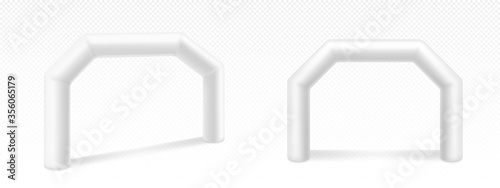 Foto Inflatable arches for advertising, races, marathon and sports events