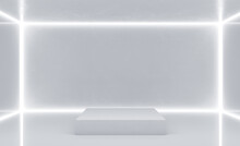 Clean White Gallery Interior W...