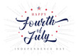 Fourth of July USA lettering inscription vintage poster. 4th of July United States of America, Independence Day typography vector Illustration