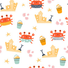 Seamless Pattern With Funny Cr...