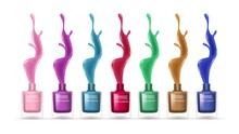 Realistic Nail Polishes. Color...