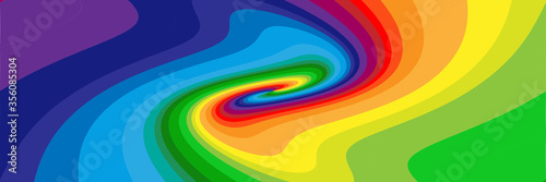 Tablou Canvas Background with soft, wavy rainbow colored spirals