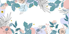 Luxury Floral  Background Vect...