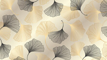 Luxury Gold Ginkgo Background ...