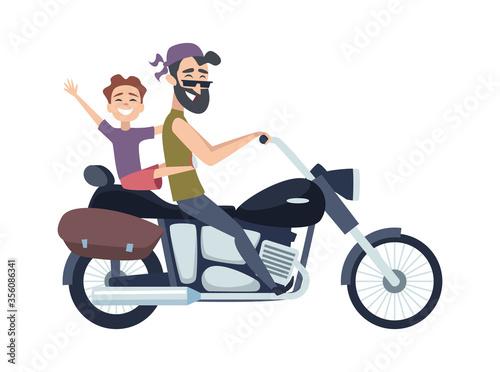 Cuadros en Lienzo Biker on motorcycle